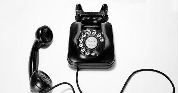An old black phone