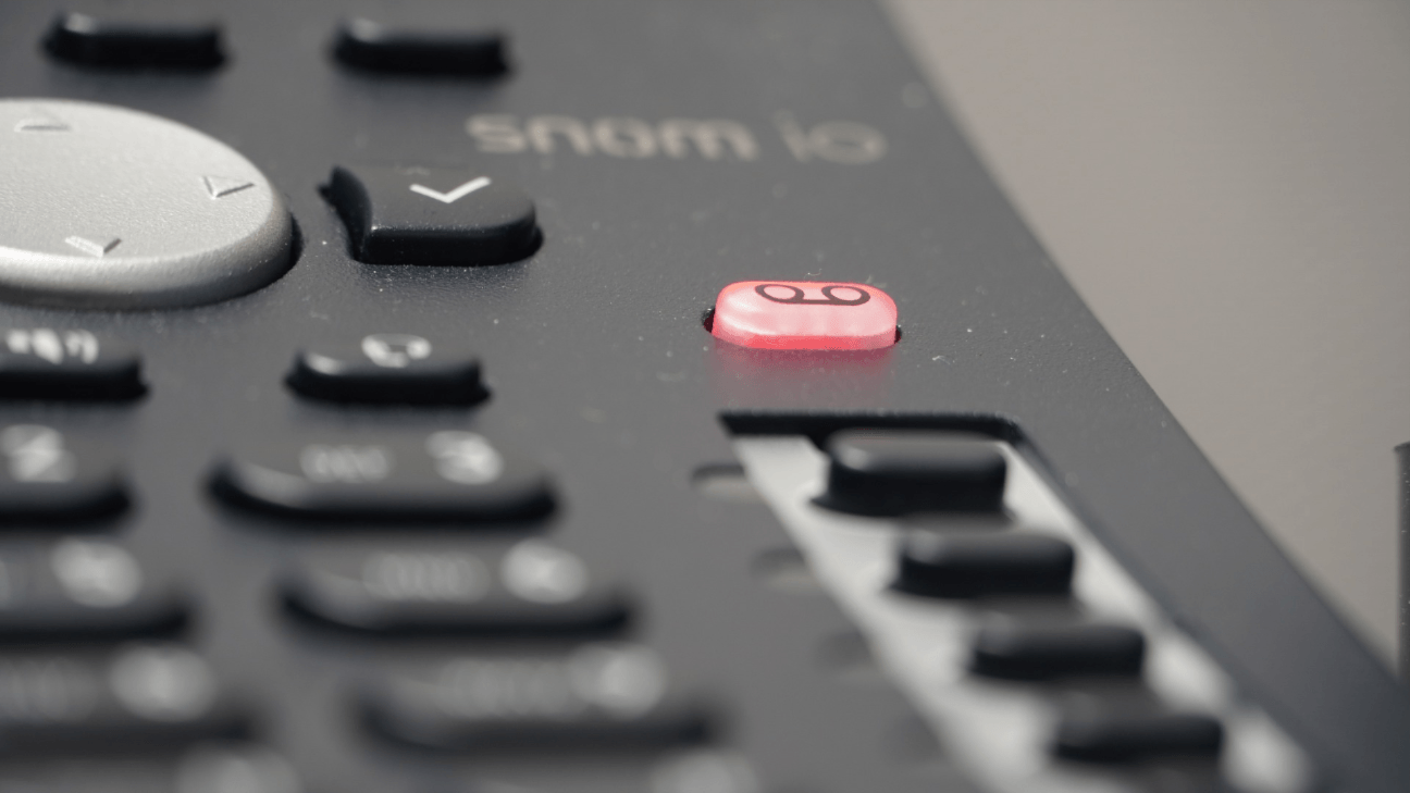 A close up of a business phone